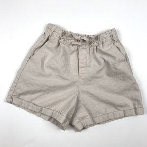 UNIQLO Linen/Cotton short with gathered waist